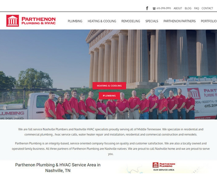 Parthenon Plumbing and HVAC in Nashville, Tennessee