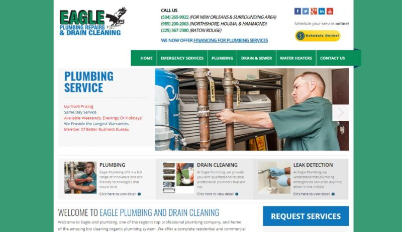 Eagle Plumbing & Drains Cleaning in New Orleans, Louisiana
