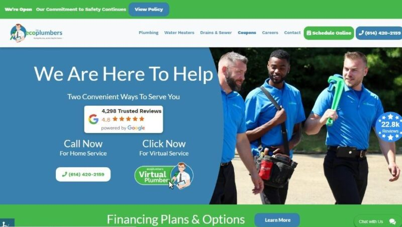 Eco Plumbers in Columbus, Ohio