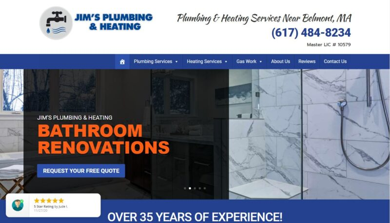 Jim's Plumbing and Heating in Belmont
