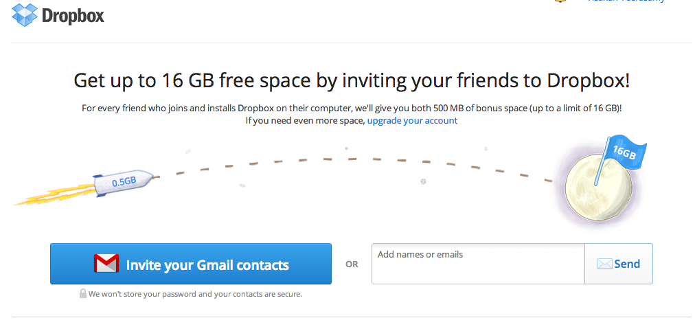 Dropbox's referral program
