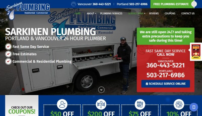 Sparkier Plumbing in Vancouver and Portland
