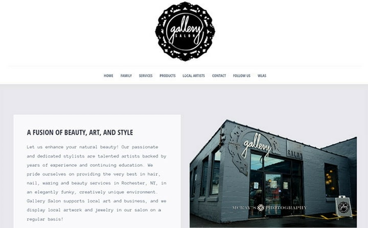 Gallery Hair | hair & beauty salon Website Design Ideas