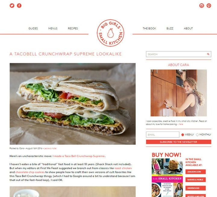 cooking & food websites