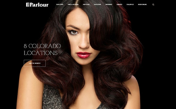 The Parlour | hair & beauty salon website designs