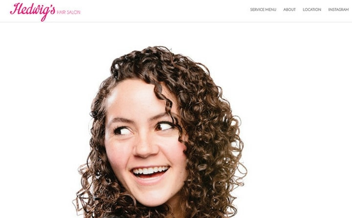 hair & beauty salon webdesigns