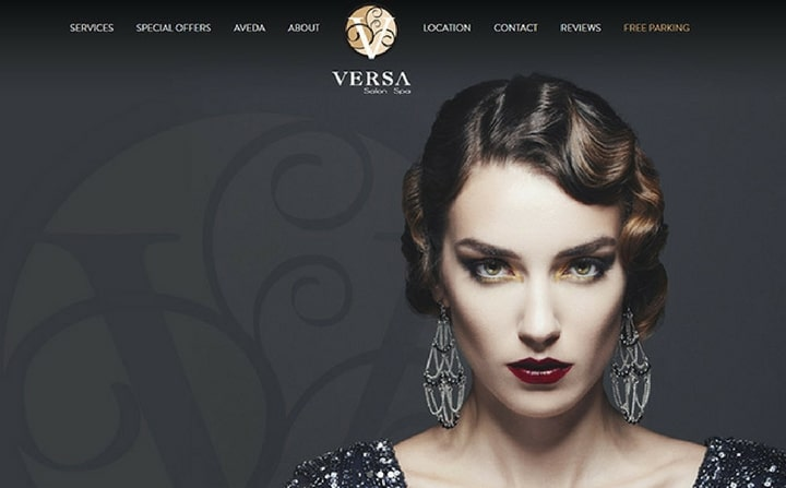 Versa Salon & Spa - Charlotte, NC | hair & beauty salon web designs