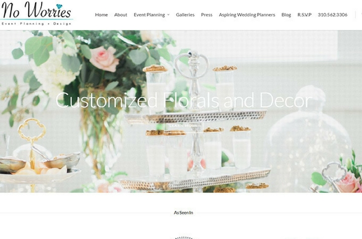 Attractive wedding party event planning websites for your no worries website design junglespirit Image collections