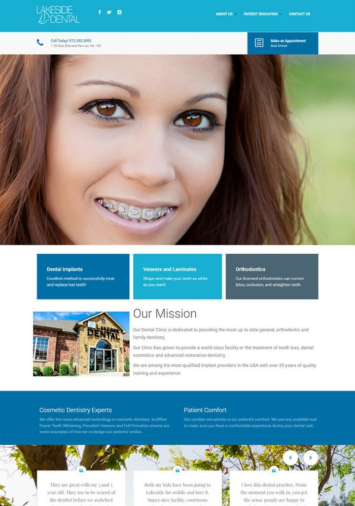 dentist webdesigns