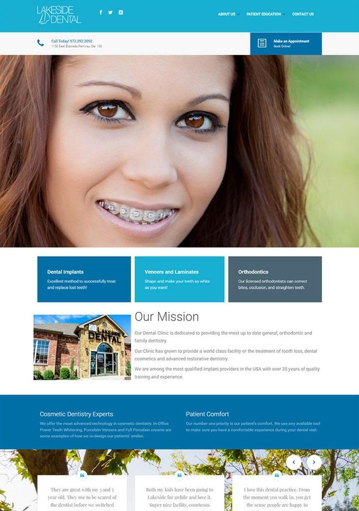 48 Dental Practice Dentist Website Designs For Your Creative Ideas Fascinating Dental Office Website Design
