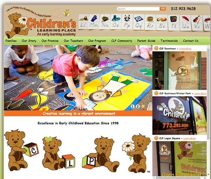 Preschool & Kindergarten Websites