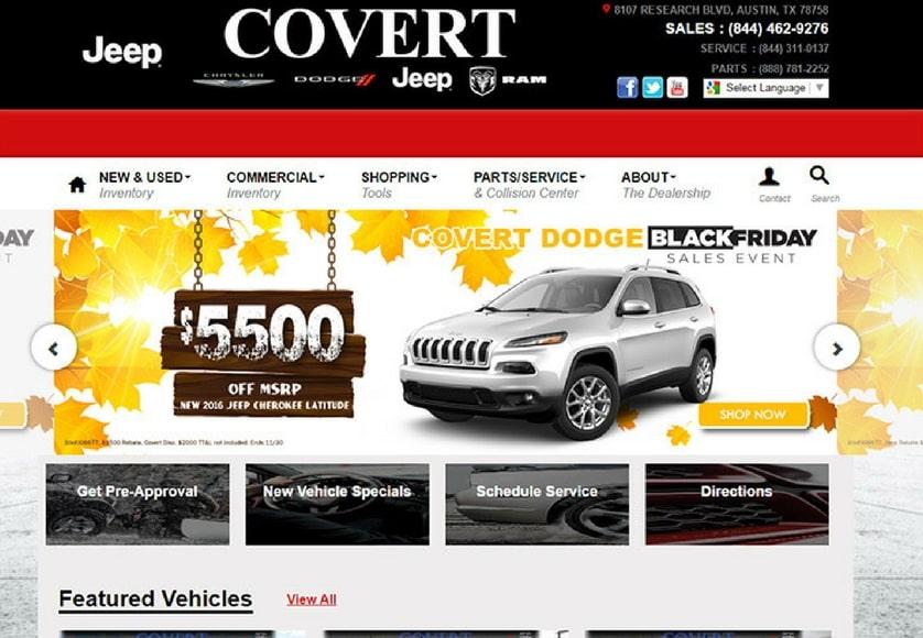 Covert Gmc Austin >> 100+ Top Car & Automobile Dealership Website Designs