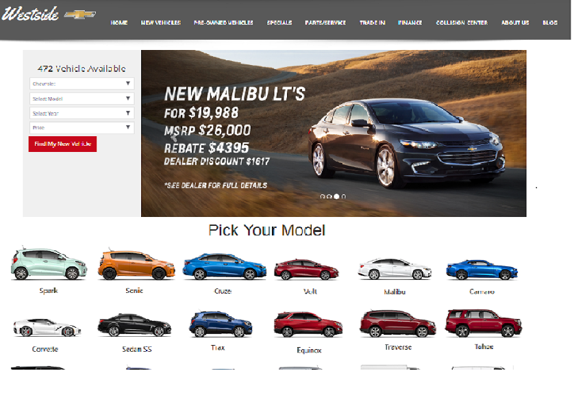 Honda Dealership Memphis >> 100+ Top Car & Automobile Dealership Website Designs