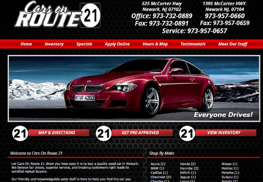 100+ Top Car & Automobile Dealership Website Designs
