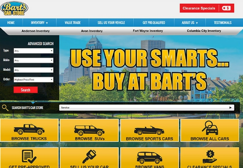 Bart's Car Store