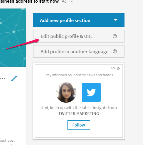 click on edit profile URL to claim your url | LinkedIn Profile Tips 10 Ways to Keep Your Page Fresh
