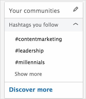 Linkedin-Hashtags