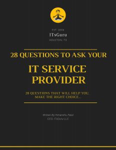 28 Questions To Ask Your IT Service Provider