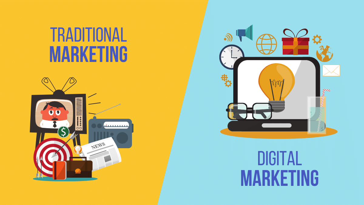 Traditional Marketing Vs. Digital Marketing What's the Difference - ITsGuru